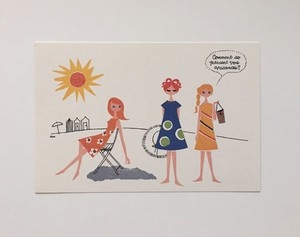 post card / Les jeunes filles robe d'été