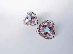 ヴィンテージビジューイヤリング ハート vintage earrings bijou <ER4-0420>