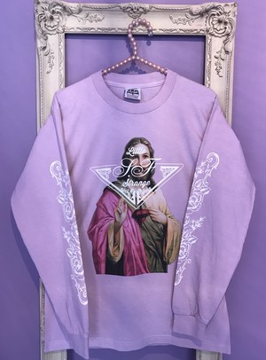 Jesus long sleeve Tshirt PINK