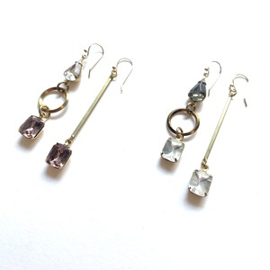 Antique glass drop earrings G-010
