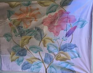 バリ島 ハイビスカスの花 絵付け布