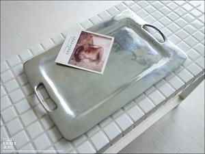 ステンレストレイRECT ステンレストレー 小物入れ 金属 シンプル モダン 手作り ハンドメイド / Size : 30cm × 20cm
