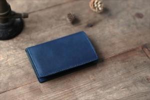 藍染革[migaki] カードケース