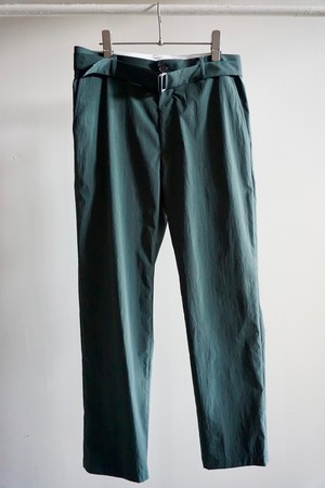 NYLON BELTED PANTS [DARK GREEN]