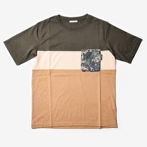 MMA 3tone Mountain Wool Pocket Tee (Green_Sand)