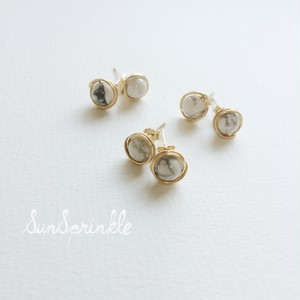 White turquoise studs earring