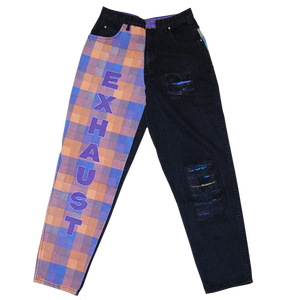 """Exhaust"" Vintage Color Denim Pants Used"