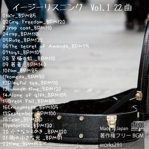 ダウンロード版【店舗様向け 著作権フリーBGM】YOUTUBEや映像用に、イージーリスニングVol.1 22曲