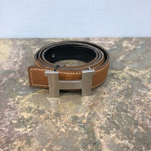 .HERMES F37 CONSTANCE H LOGO LEATHER BELT MADE IN FRANCE/エルメスコンスタンスHロゴレザーベルト 2000000033266