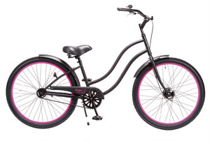 "TYPE-X 26"" Ladies' / Matte Black x Pink"
