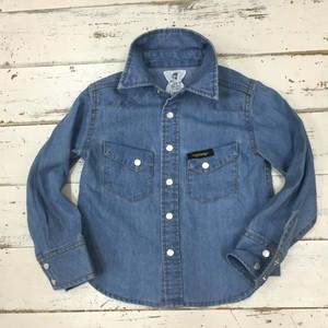20%OFF!Highkingシャンブレーシャツ  (100cm〜120cm) 1162-1960-1