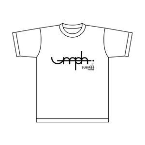 Tシャツ(白×黒紺) / umph