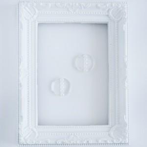 小さな透明○の5連パールピアスorイヤリング