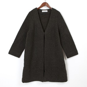 oxford wool jersey long cardigan / khaki