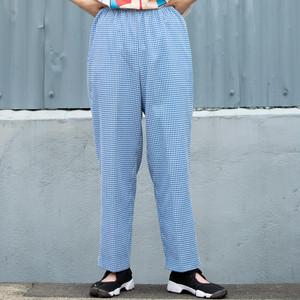Gingham Elastic Pants