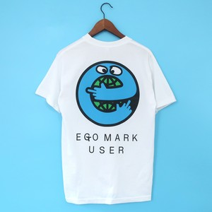 EGO MARK USER【Tシャツ ホワイト】&エゴマーク認定商品ステッカー