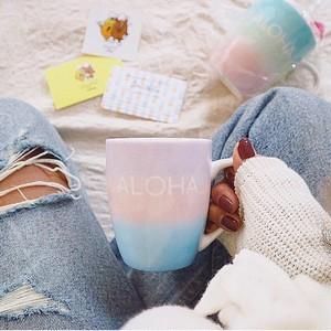 グラデーションラウンドマグカップ[ALOHA sky&beach series]