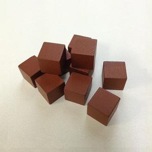 茶14mm木製キューブ(約100個)