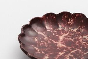 潤漆砥出豆皿(輪花A)