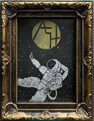 ALHイメージ絵画(湯野川広美HandMade) 宇宙飛行士①