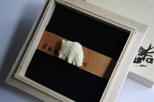 狩猟鳥獣タックピン・イノシシ*deer bone*