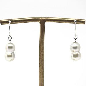 【希少!!】あこや本真珠の双子(ツインパール)のピアスN