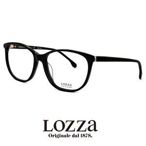 lozza メガネ vl4040m 0700 眼鏡 ロッツァ ボストン ウェリントン 黒ぶち 黒縁 イタリア製