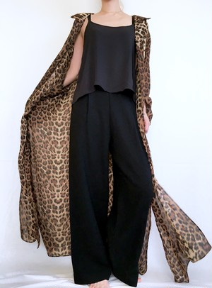 vintage leopard long jacket