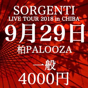 SORGENTI LIVE TOUR 2018 in CHIBA @柏PALOOZA(一般)