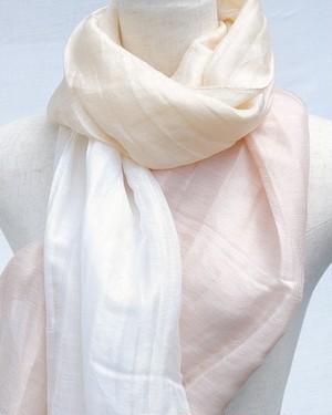 郡内織物「富士桜工房」リネン×シルク通気性に優れたストール「さらつや」ピンクベージュ