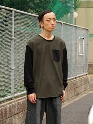 NICK NEEDLES Wool Sweat khaki-black