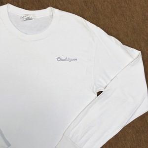 Hand Print Tシャツ「Chuuk lagoon」白長袖