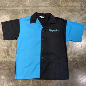 kinglouie ボウリングシャツ bowling shirt 半袖 青色 黒色 ターコイズ ブラック