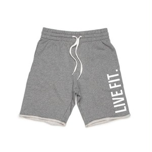 LIVE FIT.リブフィット  French Terry Live Fit short (ショーツ)-  【Heather grey】 メーカー直輸!