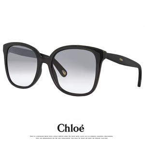 クロエ サングラス CE766S 001 アジアンフィット chloe ce766s Lサイズ ビックレンズ スクエア ウェリントン