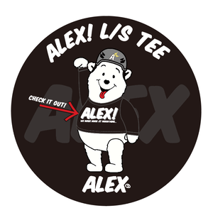 """"""" ALEX! """" (WE MAKE NOISE AT MOUNTAINS) L/S TEE"""