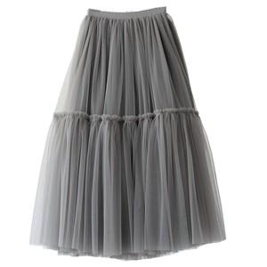 RIMI&Co. SELECT ボリュームチュール 2レイヤーフレアースカート 2Color < Tulle Layer Flared Skirt >
