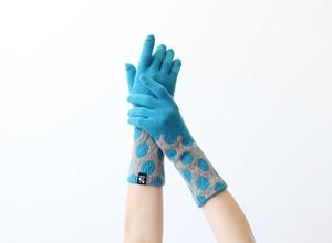 % PERCENT 手袋(FIT:ブルー・グレー)裏起毛・スマホ対応・ギフト箱付き(男女兼用)