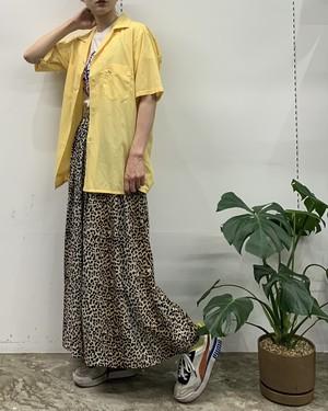 impressions of california leopard pattern rayon maxi skirt【M】