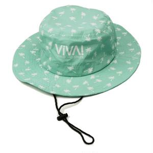 VIVA! ISLAND|ビバアイランド BEACH HAT (ヤシプリント ビーチハット/グリーン|V-916104)