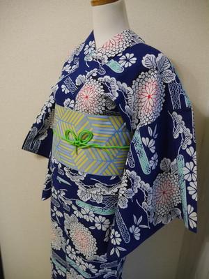 【3点セット/トータルコーデ/浴衣】古典柄が華やかな浴衣コーデ
