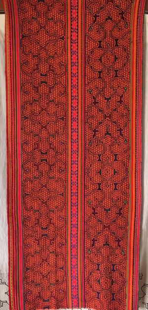シピボ族の刺繍 大判 腰巻き アチョーテ