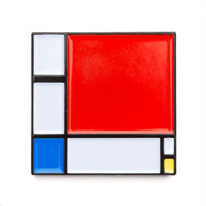 "Today Is Art Day ピンバッジ ソフト エナメル ""Composition II by Piet Mondrian"" AJ00432"
