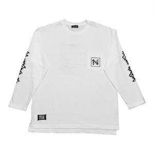 """""""NOI5E"""" ロングスリーブTシャツ(ウェーブノイズ)(ホワイト)"""