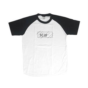 scar /////// OG RAGLAN TEE (White/Black)
