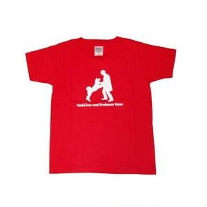 ハチ公 子供Tシャツ レッド(赤)