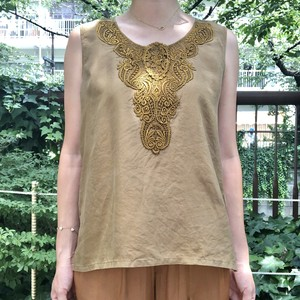 Silk embroidery tops【Vintage  product】