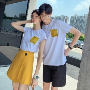 Tシャツ キュロット ショートパンツ 0760 メンズハーフパンツ セットアップ カップル ペアルック リンクコーデ カジュアル お揃い デート