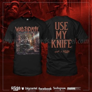 """USE MY KNIFE"" T-shirt by Fat tub of Lard Records"
