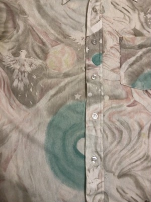 70's psychedelic atmosphere polyester shirt